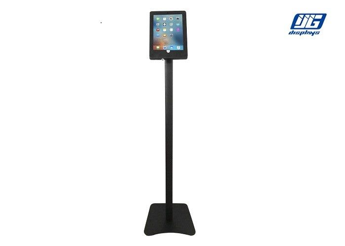Vertical IPad Display Stand , Indoor Aluminum Ipad Display Holder Bent Pole